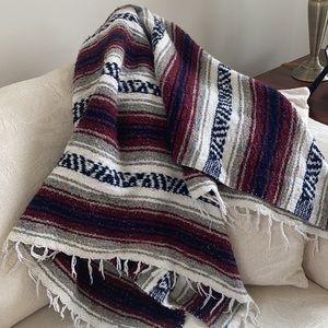 Authentic Classic Mexican Falsa Blanket